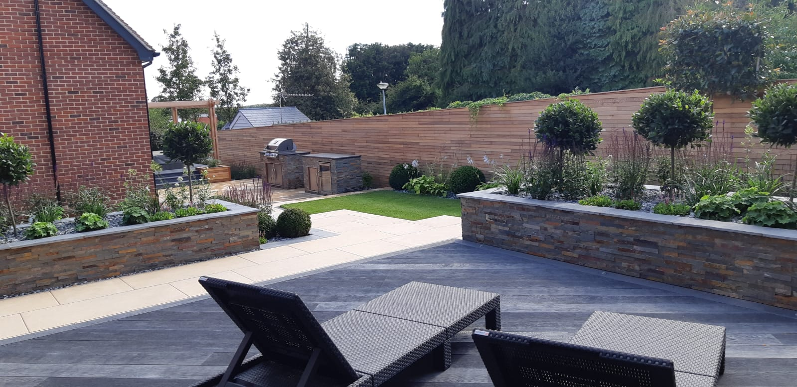 Millboard composite decking and raised beds